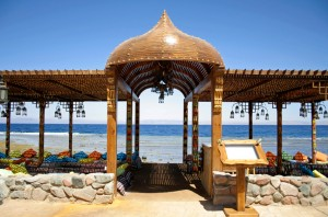 resort restaurant on the red sea in dahab, sinai, egypt
